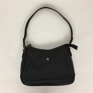 Etienne Aigner Black Leather Shoulder Bag Small